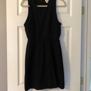 J. Crew Factory black polka dot dress